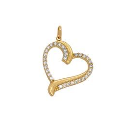Pingente Coração Vazado Ouro 18k - OV/P7152 - Ouro Vale Joias