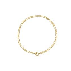 Pulseira Groumet em Ouro 18k - OV/PUL15575-1 - Ouro Vale Joias