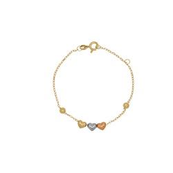 Pulseira Cartier Tricolor Oca em Ouro 18k - OV/PUL... - Ouro Vale Joias