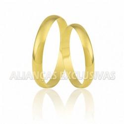 Aliança Delicada Tradicional em Ouro 18k - OV/004 - Ouro Vale Joias