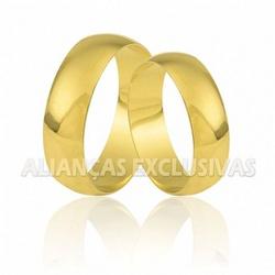 Aliança Tradicional em Ouro 18k - OV/025 - Ouro Vale Joias