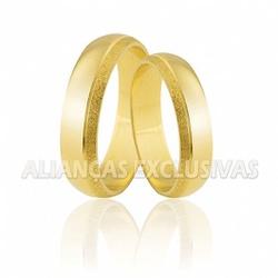 Alianças de Noivado e Casamento em Ouro 18k Grossa... - Ouro Vale Joias