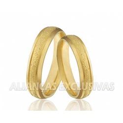 Alianças Diamantadas com Laterais Polidas em Ouro ... - Ouro Vale Joias