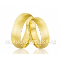 Aliança Larga Tradicional em Ouro 18k - OV/65 - Ouro Vale Joias