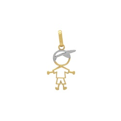 Pingente Menino Vazado em Ouro 18k - OV/P14554 - Ouro Vale Joias