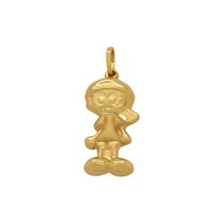 Pingente Menino com Boné em Ouro 18k - OV/P8314 - Ouro Vale Joias