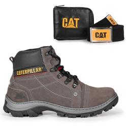 Bota 2186 - Cinza + Carteira + Cinto Brinde - BOOTS CAT