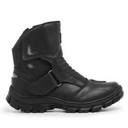 Bota Master Boots Motoqueiro Velcro Preto - BOOTS CAT