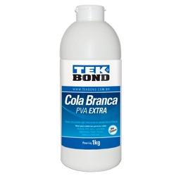 Cola De Alta Resistência Branca PVA Extra 1kg - Tekbond - Outlet do Marceneiro