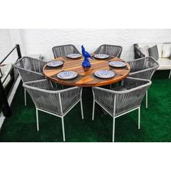Mesa DAKOTA com cadeiras GEÓRGIA - KNK56 - Outlet das Fibras