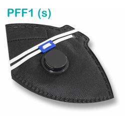 Respirador Descartável Tipo PFF1 (S) Preto Com Vál... - OXLIFE