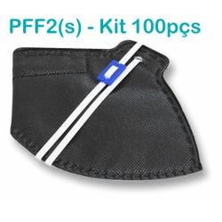 Respirador Descartável Tipo PFF2 (S) Preto - Caixa... - OXLIFE