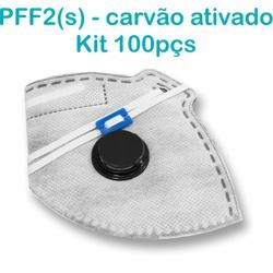 Respirador Descartável Tipo PFF2 (S) Branco Carvão... - OXLIFE
