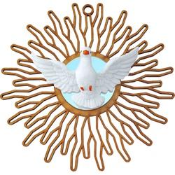 Divino Espirito Santo em MDF com Espelho 18 Cm Par... - PALUDO ARTIGOS CATÓLICOS