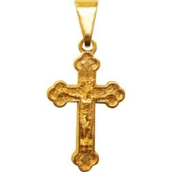 Crucifixo Folhado à Ouro Romano - FO.18 - PALUDO ARTIGOS CATÓLICOS