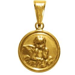 Medalha Folhada à Ouro Anjo da Guarda - FO.39 - PALUDO ARTIGOS CATÓLICOS