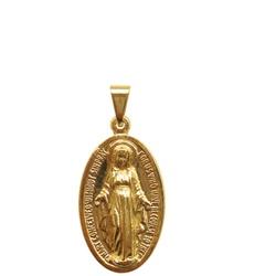 Medalha Milagrosa Folhada à Ouro Pequena 15mm x 1... - PALUDO ARTIGOS CATÓLICOS