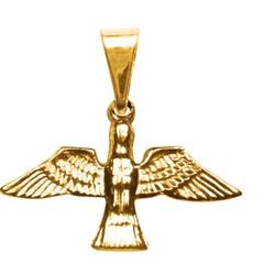 Pombinha Espírito Santo Folhado à Ouro - FO.48 - PALUDO ARTIGOS CATÓLICOS