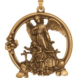 Medalhão de Berço Ouro Velho Vazado - MB.03 - PALUDO ARTIGOS CATÓLICOS