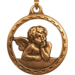 Medalhão de Berço Ouro Velho Anjo - MB.07 - PALUDO ARTIGOS CATÓLICOS
