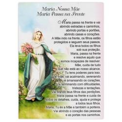 Cartão Postal Maria Passa na Frente - DI.243.10 - PALUDO ARTIGOS CATÓLICOS