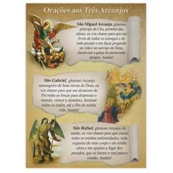 Cartão Postal Oração dos Três Arcanjos - DI.243.08... - PALUDO ARTIGOS CATÓLICOS