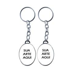 Chaveiro Oval Personalizável - CH.09P - PALUDO ARTIGOS CATÓLICOS
