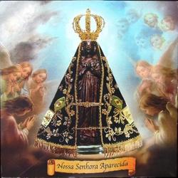 Quadro de Madeira de Nossa Senhora Aparecida - DI... - PALUDO ARTIGOS CATÓLICOS