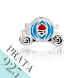 Pingente Carruagem Cinderela Memories Prata 925 -... - Kumbayá Joias