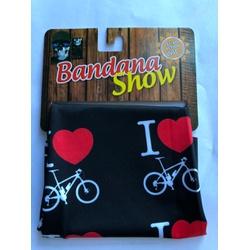 Bandana Show Preto Love Bike - 4284 - PEDAL PRÓ Bike Shop