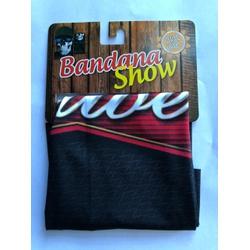 Bandana Show Preto Budweiser - 4279 - PEDAL PRÓ Bike Shop