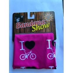Bandana Show Rosa Love Bike - 4278 - PEDAL PRÓ Bike Shop