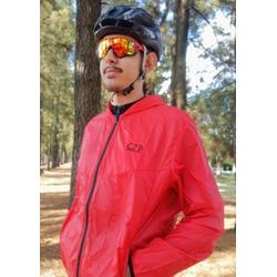 Jaqueta Corta Vento C2B Masculino Vermelho e Preto... - PEDAL PRÓ Bike Shop