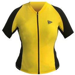 Camisa Sol Training Feminino Manga Curta Amarelo e... - PEDAL PRÓ Bike Shop
