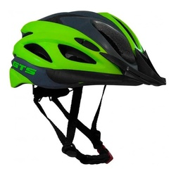 Capacete GTS In Mold Cinza e Verde - 3394 - PEDAL PRÓ Bike Shop
