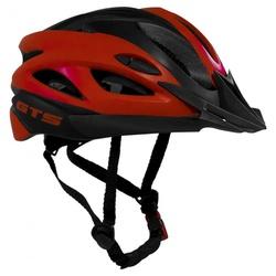 Capacete GTS In Mold Preto e Vermelho - 3395 - PEDAL PRÓ Bike Shop