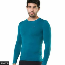 Camisa Elite Termica M/Longa Masculino Azul Petról... - PEDAL PRÓ Bike Shop
