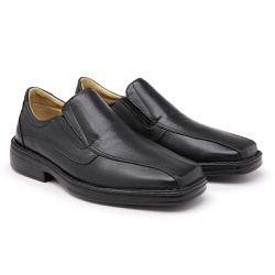 Sapato Confort Preto - PÉ DE COURO