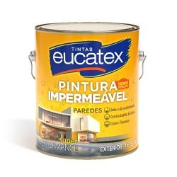 PINTURA IMPERMEÁVEL BRANCA P/PAREDE 3,6L - PEROLA TINTAS