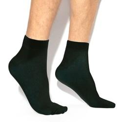 Meia Masculina Cano Médio - Preta - MMCM - Pé Relax Sapatos Confortáveis