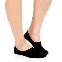 Meia Invisível Feminina - Preta - MIFP08-PT - Pé Relax Sapatos Confortáveis