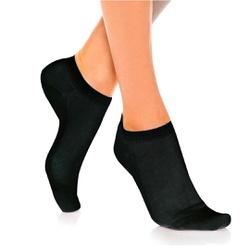 Meia Soquete Feminina - Preta - MSFP - Pé Relax Sapatos Confortáveis