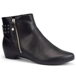 Bota Cano Curto Confortável - Preta - CAL7173-0001PT - Pé Relax Sapatos Confortáveis