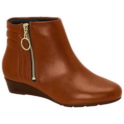 Bota Cano Curto Confortável - Pinhão - MO7048-222PI - Pé Relax Sapatos Confortáveis