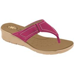 Chinelo Esporão e Fascite com Velcro - Rouge - MA10007RO - Pé Relax Sapatos Confortáveis