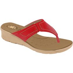 Chinelo para Esporão e Fascite - Mini Relax Scarlet / Campari - MA10007NVM - Pé Relax Sapatos Confortáveis