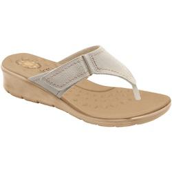 Chinelo Confort para Esporão e Fascite - Off White - MA10007OW - Pé Relax Sapatos Confortáveis