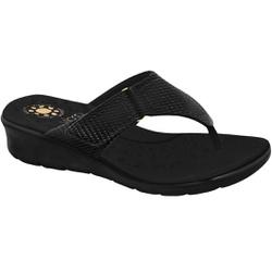 Chinelo para Esporão e Fascite - Preto Sola Preta - MA10007NPT - Pé Relax Sapatos Confortáveis