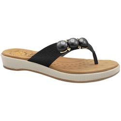 Chinelo para Esporão e Fascite - Preto - MA128191FPT - Pé Relax Sapatos Confortáveis