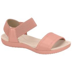 Sandália para Esporão e Fascite com Elástico - Light Blush - MO7125-226LB - Pé Relax Sapatos Confortáveis